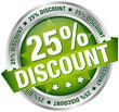 "Button Banner ""25% Discount"" grün/silber"