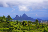 Sharp mountains at Mauritius