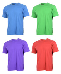 T-shirts in various colors