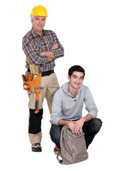 Carpenter and a student