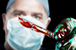 Surgeon with scalpel