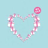 shopping heart big sale concept