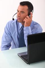 Executive audio headphones and microphone