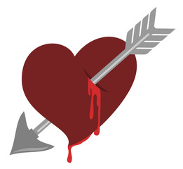 Love arrow heart