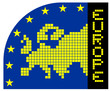Europe pixel symbol