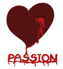 Passion blood heart