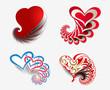 valentine's day heart, vector illustration.