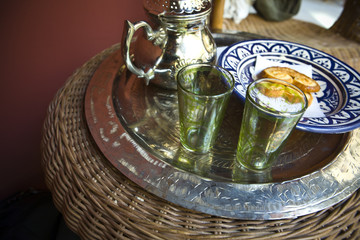 Tea time on public arabic baths