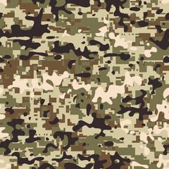 Modern seamless digital multicam pattern camouflage