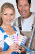 couple with color chart