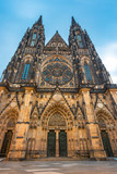 Main entrance to the St. Vitus cathedral in Prague Castle