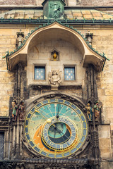 Astronomical clock on Old Town Hall in Prague, Czech