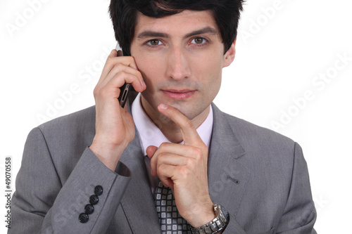 Businessman coming up with ideas