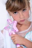 Little girl dress as fairy