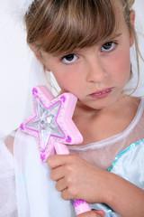 Little girl dress as fairy