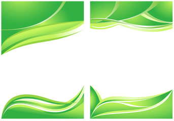 Abstract green backgrounds for brochure