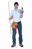 Plumber with a blowtorch poster