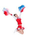 Cheerful young cheerleader