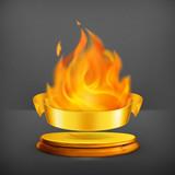 Golden flame