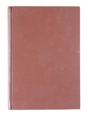 Old red cover book isolated on white background