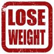Grunge Stempel rot LOSE WEIGHT