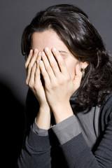 Frau traurig nach Scheidung