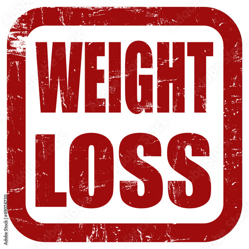 Grunge Stempel rot WEIGHT LOSS