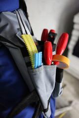 Close-up of tool belt