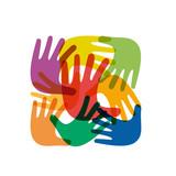 Fototapety Colorful Teamwork rainbow # Vector