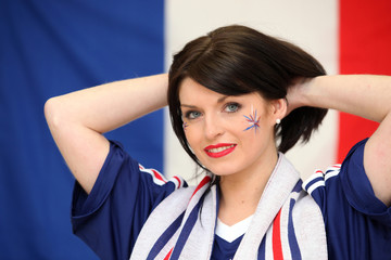 Female French soccer supporter