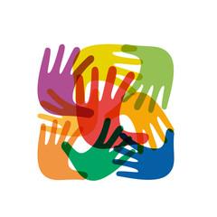 Colorful Teamwork rainbow # Vector