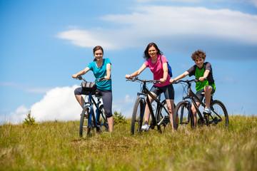 Active family biking
