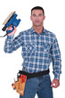 Workman with a sander