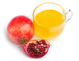 pomegranate and honey in a cup of glass