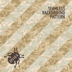 Modern Camouflage Background in Trendy Seamless Pattern