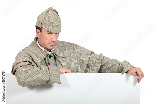 portrait of a man dressed as Sherlock Holmes