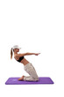 young girl doing yoga