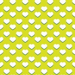 Seamless green heart pattern - valentine wrapping