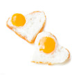Heart fried eggs