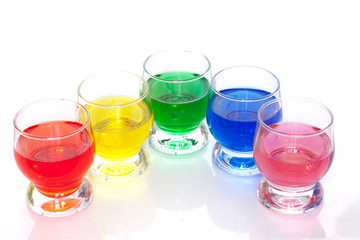 Colorful liquids
