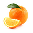 Ripe orange fruit with slice