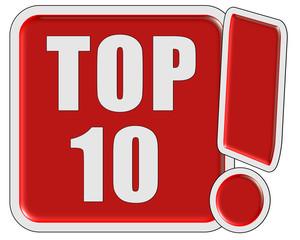 !-Schild rot quad TOP TEN