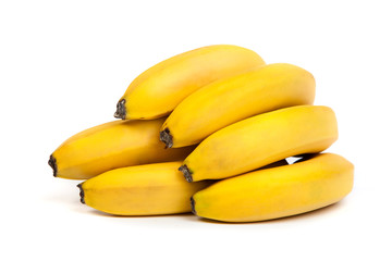 A bunch of bananas isolated
