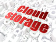 Cloud computing technology, networking concept: Cloud Storage on