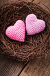 Nest with hearts