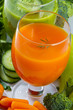 Health, fresh vegetable juice - weight loss concept