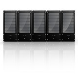 3d server - datacenter, on white poster