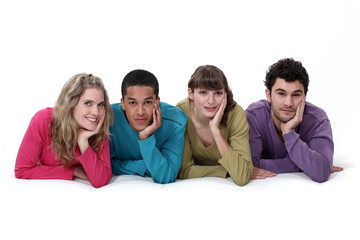Ethnically diverse group of young people