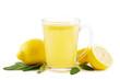 Leinwandbild Motiv Heiße Zitrone mit Salbei