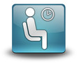 "Light Blue 3D Effect Icon ""Waiting Room"""